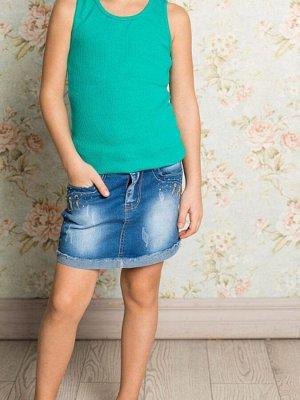 Юбка джинсовая для девочек 134-146 рост