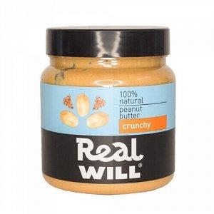 "Паста ""Crunchy"", арахисовая Real Will"