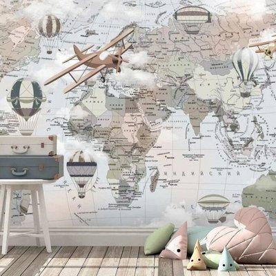 Фотообои по Вашим размерам и Пленка самоклеящаяся 18.09.2021 — Фотообои Карты Детские