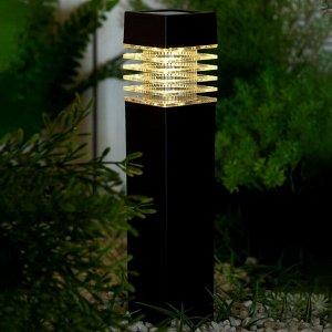 "Фонарь садовый на солнечной батарее ""Столбик"", 39 х 6 х 6 см, 1 led,пластик, Тепло-Белый"