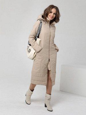 Пальто дем. бежевый