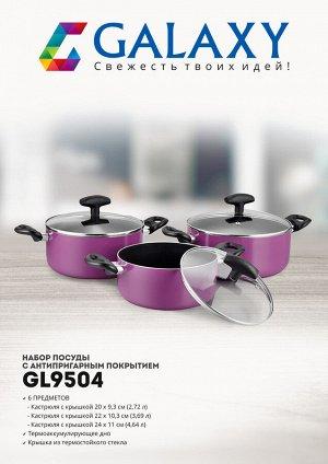 Набор посуды с антипригарным покрытием 6 предметов