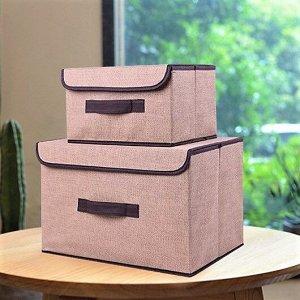 Ящик для хранения, коричневый, 38х25х25см, 27х20х16см