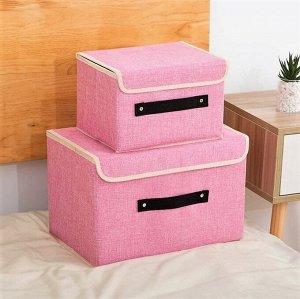 Ящик для хранения, розовый, 38х25х25см, 27х20х16см