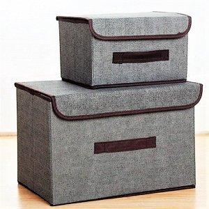 Ящик для хранения, серый,  38х25х25см, 27х20х16см
