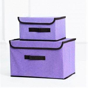 Ящик для хранения, фиолетовый,  38х25х25см, 27х20х16см