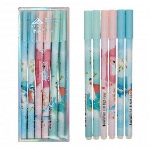 Ручка гелевая ПИШИ-СТИРАЙ 0,35мм стержень синий корпус с рисунком МИКС (штрихкод на штуке) 7007845