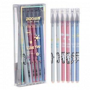 Ручка гелевая ПИШИ-СТИРАЙ стержень синий 0,38мм, корпус МИКС (штрихкод на штуке) Like you 7039288