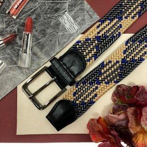Плетеный ремень-резинка Elee комбинированного цвета, длина 99 см.