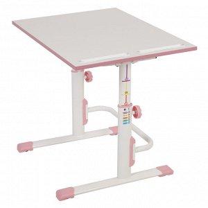 Растущая парта-трансформер polini kids simple м1 75х55 см, белый-розовый