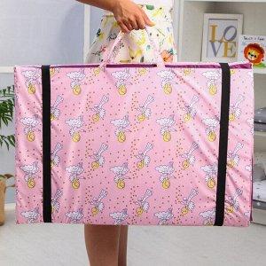 Коврик складной с рисунком «Ангел - розовый», 190х140х1 см