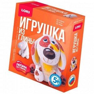 """Набор для изготовления игрушек из глины Lori """"Лепим из глины. Собачка"""", от 5-ти лет, картон"""