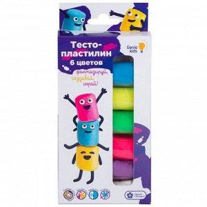 """Набор для лепки Genio Kids """"Тесто-пластилин"""", 6 цветов, картон, европодвес"""
