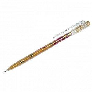 """Ручка гелевая """"Люрекс"""" золото, 1мм"""
