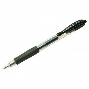 """Ручка гелевая автоматическая """"G-2"""", черная, 0,5мм, грип"""