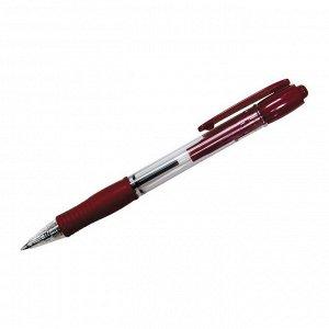 """Ручка шариковая автоматическая """"Super Grip"""" F-R, красная, 0,7мм, красный грип"""