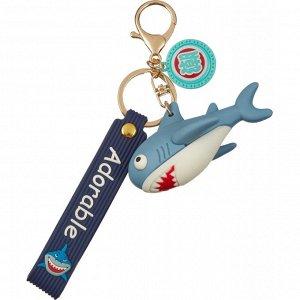 Брелок Акула синий 4,5x8 см