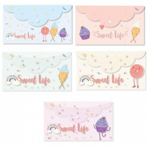 Папка-конверт на кнопке Att-he Sel-on SWEET LIFE 225х130мм200мкм ...
