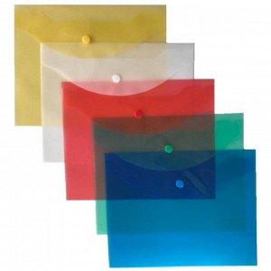 Папка-конверт на кнопке А5 Attache цвет в ассортименте 120 мкм 10...