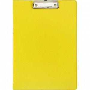 Папка-планшет с зажимом и крышкой Attache Bright colours A4 желтый