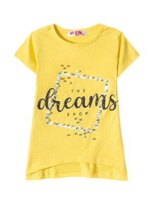 """Футболки для девочек """"Dreams yellow"""", цвет Желтый"""