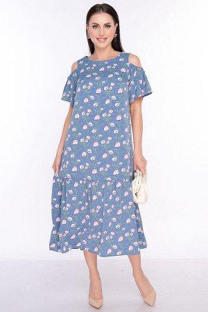 """Платье """"Марианна"""" (синее) П2457"""
