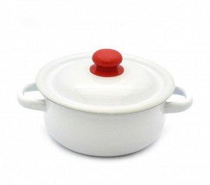 Кастрюля Кастрюля  1,5л цил белая пл/кнопка