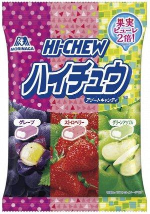 Жевательные конфеты ассорти(банан, виноград, клубника, яблоко), 94гр