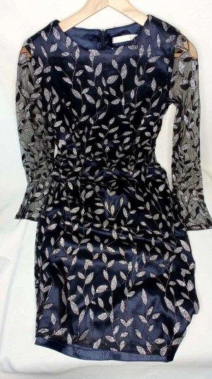 Платье Ткань атлас + кружево. Замеры по изделию: ОГ 86 см, ОТ 78 см, длина 107см