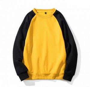 Мужской свитшот, цвет черный/желтый