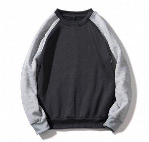 Мужской свитшот, цвет серый/черный