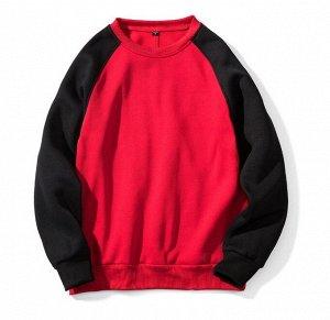Мужской свитшот, цвет черный/красный