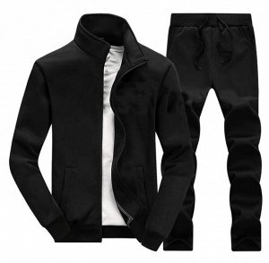 Мужской костюм, с карманами, цвет черный