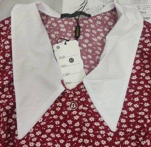 Платье Замеры по изделию: ОГ 100 см, ОТ 82 см, длина 97 см Ткань софт Воротник немного отличается подробнее в доп фото