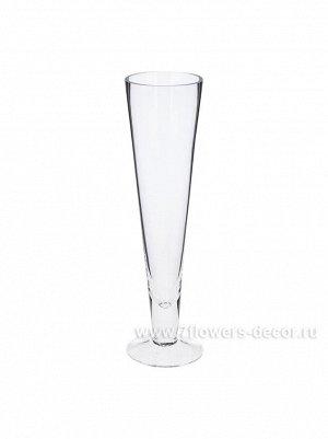 Ваза стекло Конус D8.5 х H30 см
