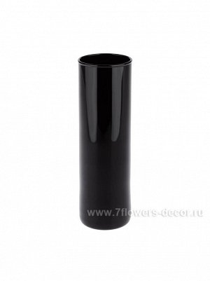 Ваза стекло Цилиндр D5 х H16 см цвет черный