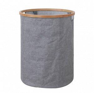 Корзина для белья текстильная круглая высокая А-0080