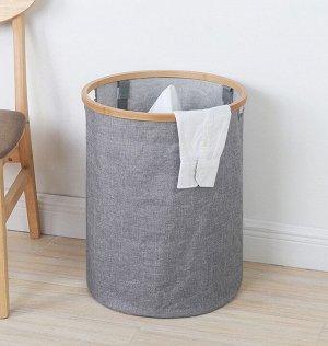 Корзина для белья текстильная прямоугольная с крышкой А-0077