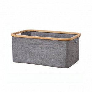 Корзина для белья текстильная прямоугольная А-0081