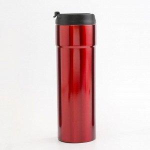 """Термокружка """"Деганья"""", 450 мл, сохраняет тепло 3 ч, красный, 8х22 см"""
