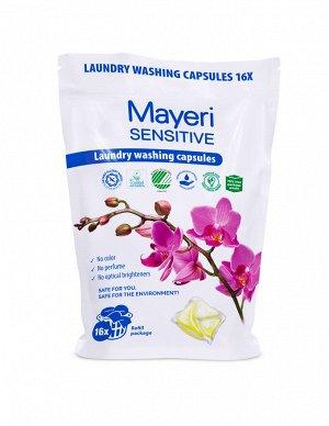 Mayeri Sensitive ЭКО Капсулы для стирки (пакет), 16 шт.