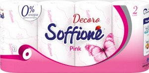 Soffione Decoro Pink 8-p туалетная бумага