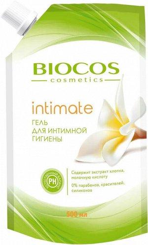 BioСos Гель для интимной гигиены с экстрактом хлопка и молочной кислотой 500мл