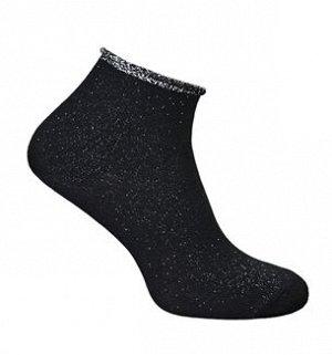 Носки женские с люрексом черный