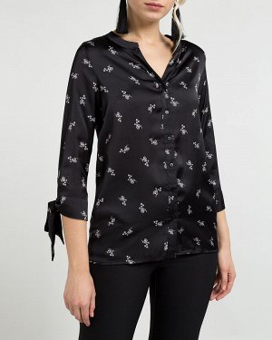 Блузка жен. (002200)черно-белый
