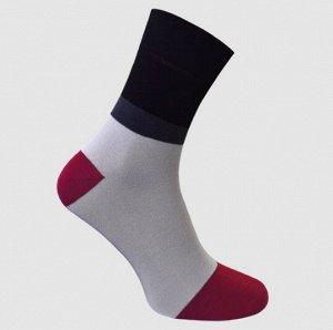 Носки мужские с сеткой светло-серый Crazy Sock