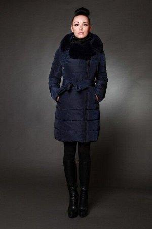 Женская куртка зимняя  1720 цвет темно-синий