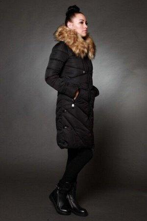 Женская куртка зимняя 8715 искусственный мех