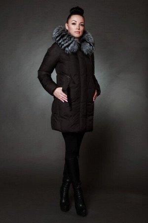Куртка женская зимняя 17100 черный натуральный мех
