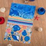 Полотенце вафельное - «Пляж» Размер 80*150